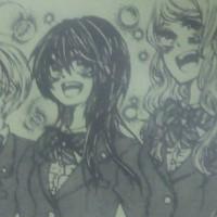 イラスト部の3年女子が描いた絵